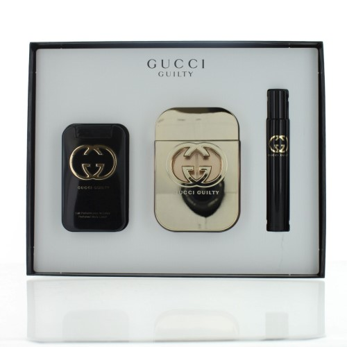 Gucci Guilty By Gucci For Women - 3 Pc Gift Set 2.5Oz Edt Spray, 3.3Oz Perfumed Body Lotion, 0.25Oz Edt Spray