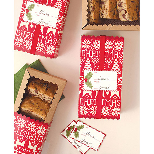 "Treat Boxes 6.2""X3.5"" Makes 4-Cottage Christmas"