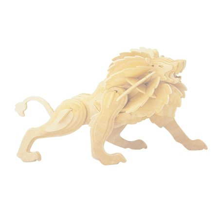 Kid 3D Wood Craft DIY Little Lion Model Wooden Construction Kit Toy ...