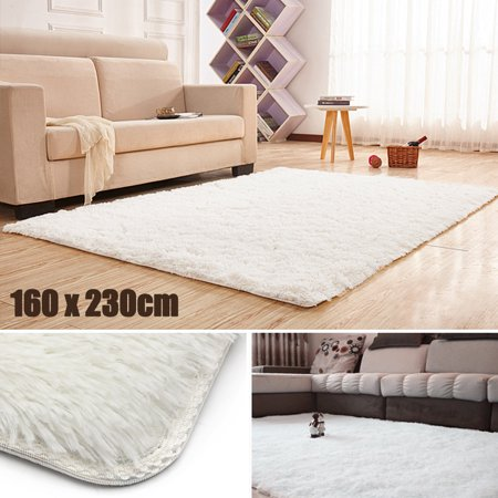 """63x90"""" Fluffy Rugs Anti-Skid Shaggy Area Office Sitting Drawing Room Gateway Door Carpet Play Mat Christmas Gift for your home"""
