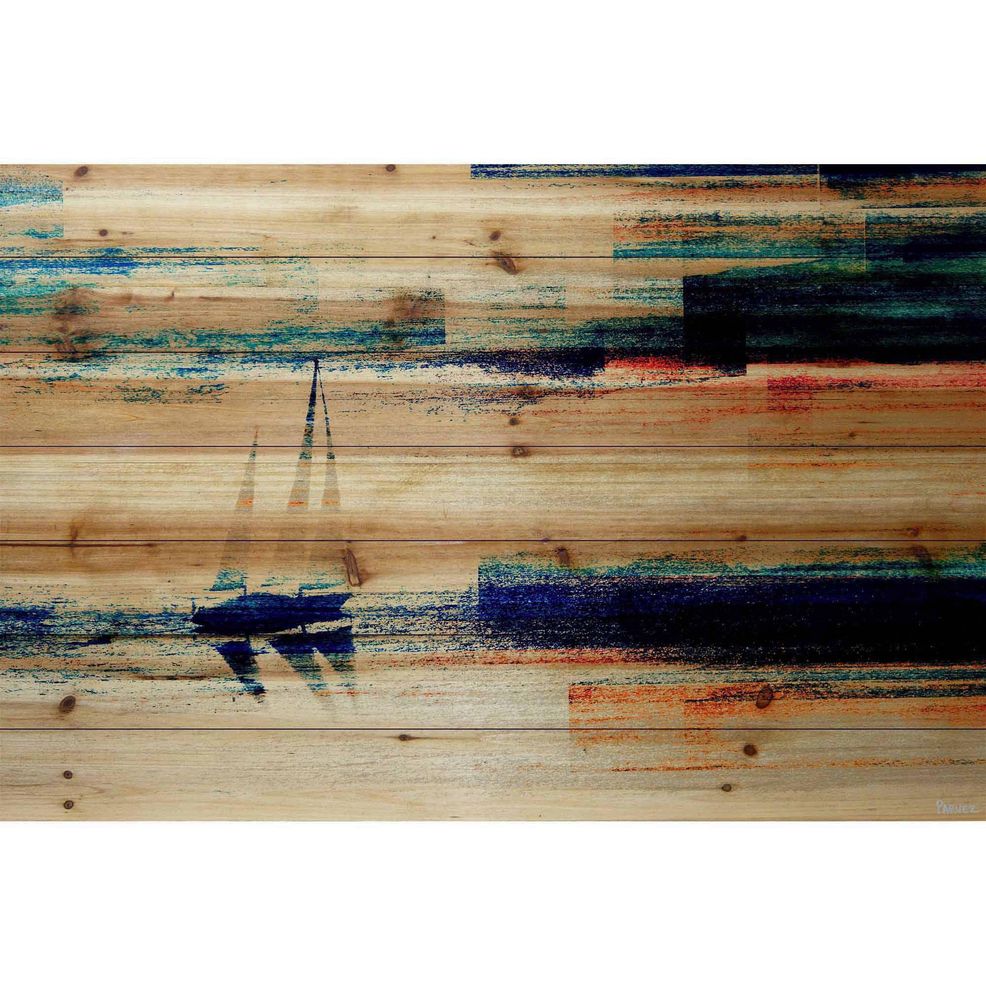 Parvez Taj Aegean Sea Art Print on Natural Pine Wood by Generic