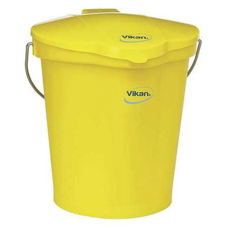 VIKAN 56866 Pail, 3 Gal., Yellow, Polypropylene