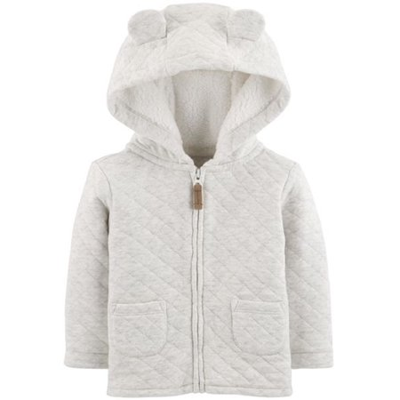 f4a80c28f Carter s - Carter s Baby Zippered Hooded Quilted Jacket - Walmart.com