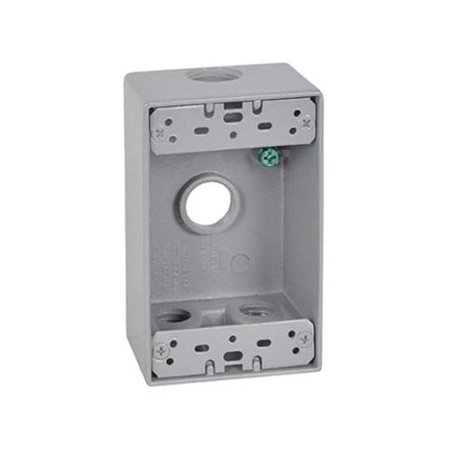- Hubbell Electrical Products FSB50-4 Gray Weatherproof 1-Gang Rectangular Outlet Box