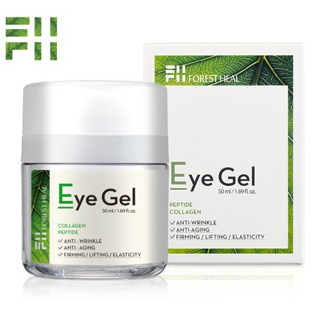 Eye Cream for Anti-aging, Eye Gel With Collagen Peptides and Niacinamide - Natural Anti Aging, Anti Wrinkle Moisturizer For Under and Around Eyes - Forest Heal 1.69 (Best Cream For Wrinkles Around Eyes)