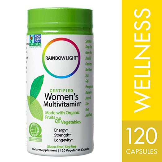 Rainbow Light – Certified Women's Multivitamin, 120 Count, Made With Organic Whole Foods