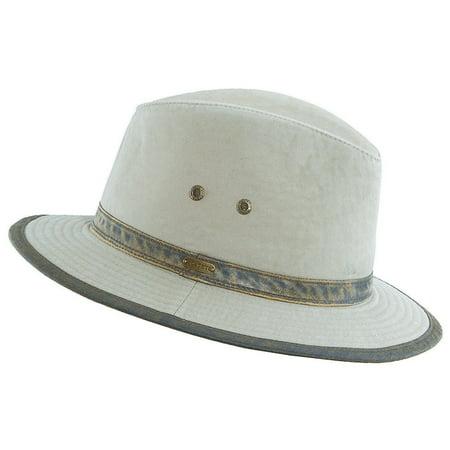 43d0f406dfe Stetson - Stetson Outdoor Men s Washed Twill Safari Hat Khaki M ...