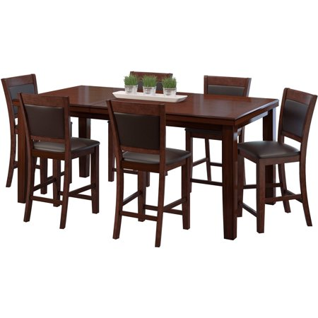 corliving 7 piece counter height extendable dining set
