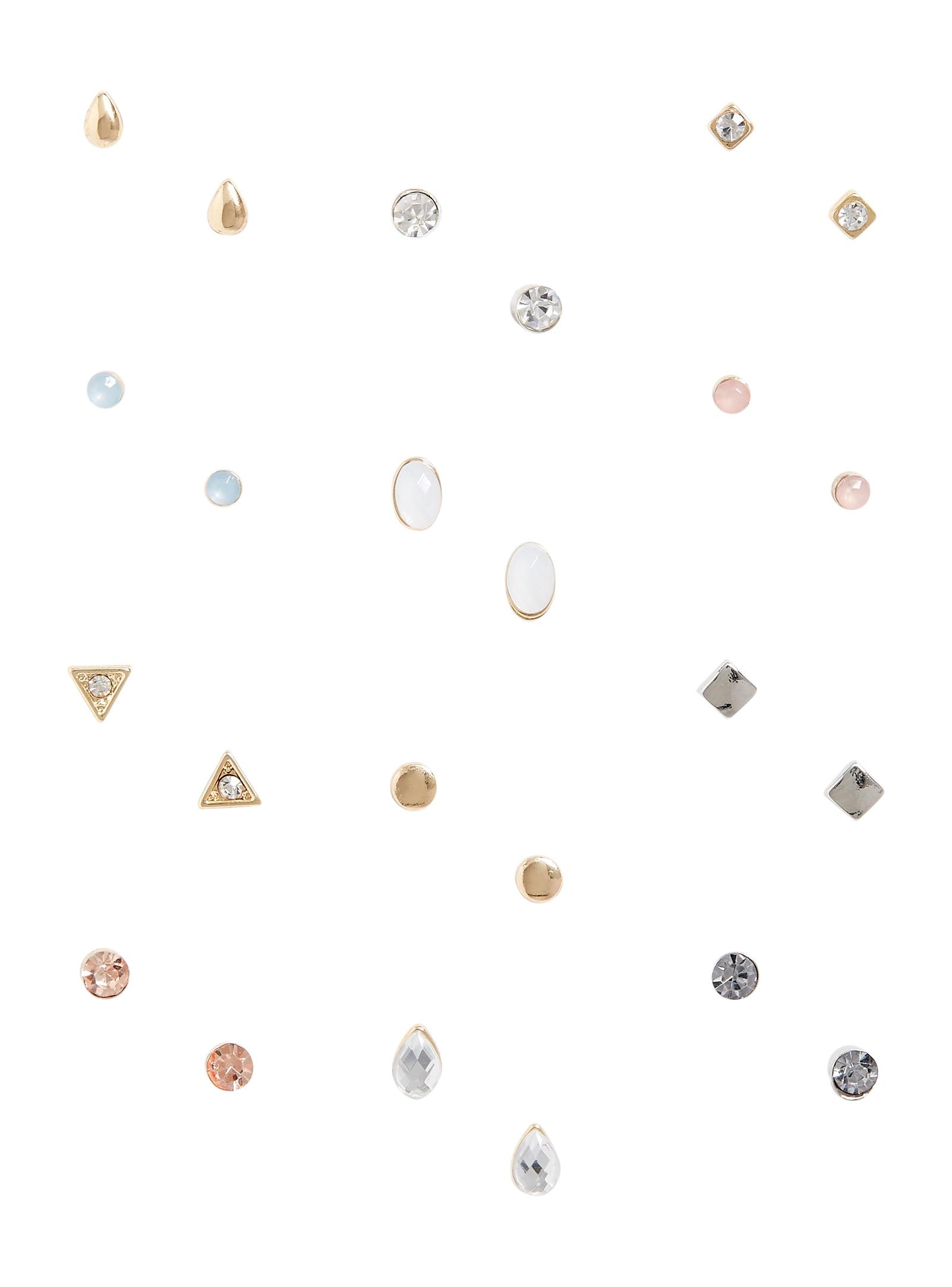 12 Piece Stud Earring Set