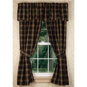 """Classic Black 63"""" Country Curtain Panels"""