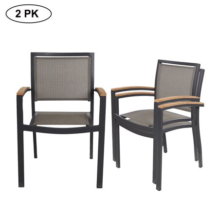 Pleasant Karmas Product 2 Pk Stackable Patio Chairs Metal Indoor Outdoor Restaurant Stack Chair Arm Constructed Aluminum Alloy Lightweight Sturdy Home Interior And Landscaping Eliaenasavecom