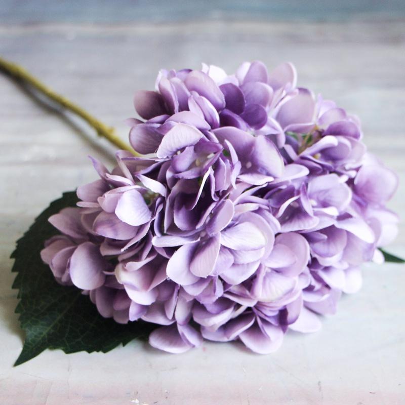 Artificial Hydrangea Flower Silk Fake Floral Bridal Wedding Bouquet Home Decor