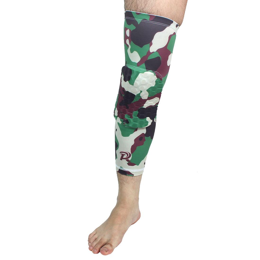 Basketball Patella Knee Brace Leg Sleeve Wrap Support Camouflage Green XL Pair - image 5 de 6