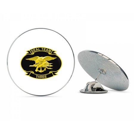 715b334fd US Navy United States Navy Seal Team Three Military Veteran USA Pride  Served Gift Metal 0.75