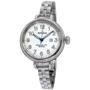 Shinola The Birdy White Dial Stainless Steel Ladies Watch S0200006