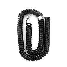 Ip Black 12Foot Handset Cord By Shoretel