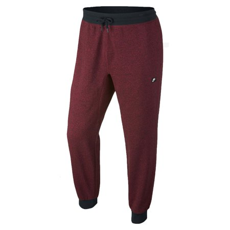 Nike Men's AW77 French Terry Shoebox Cuffed Sweatpants-Team Red/Black/ Heather