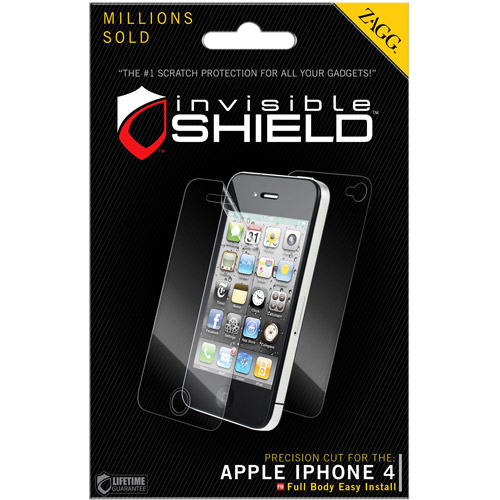 ZAGG InvisibleShield for Apple iPhone 4/4S (Screen) -Clear