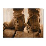Day Dream HQ SD3324 33 x 24 in. Show Down Inside & Outside Cedar Wall Art