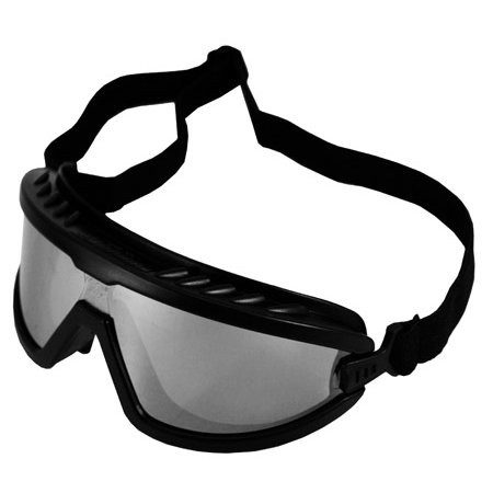 Black Silver Mirrored Safety Goggles