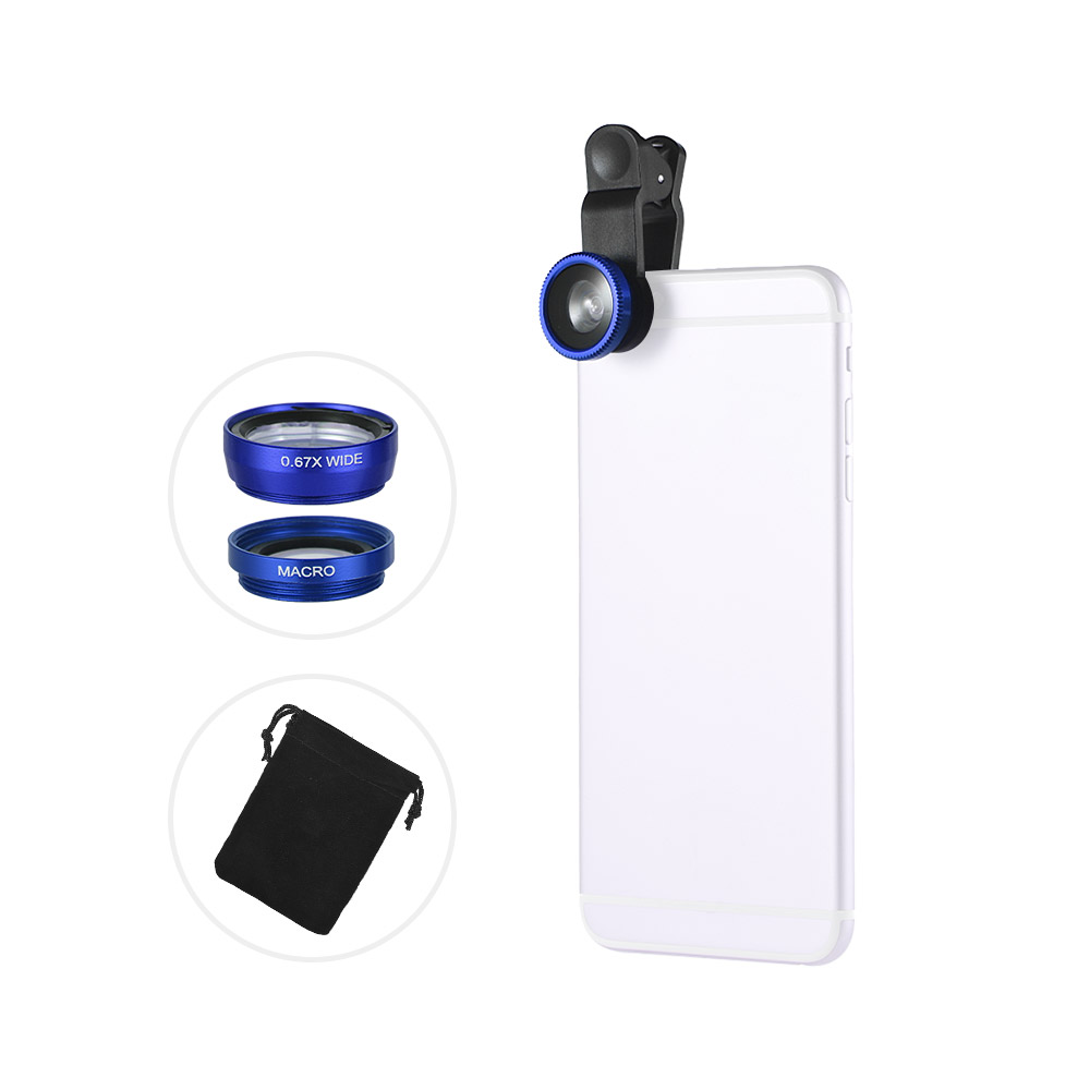 Macro Lens 3 in 1 Phone Lens kit-180/° Fisheye Lens 120/° Wide Angle Lens,Clip on Cell Phone Lens Kits Compatible with Most Phones PhoneCamera Lens