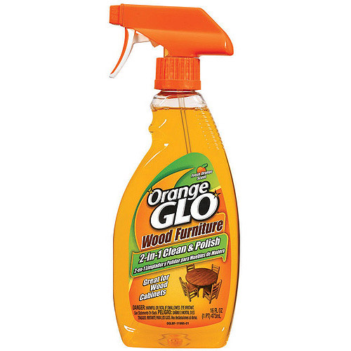 Orange Glo Wood Furniture 2-in-1 Clean & Polish, 16 fl oz