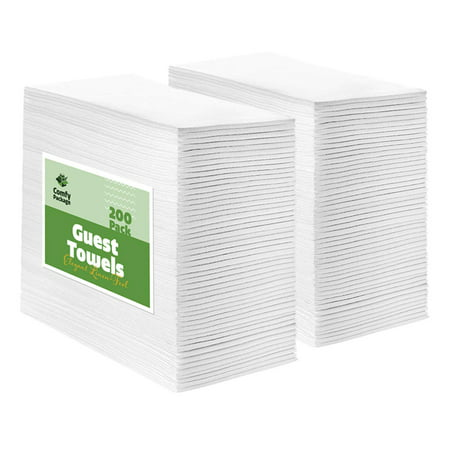 Disposable Guest Towels (Comfy Package [200 Pack] Linen-Feel Disposable Paper Guest Towels -)