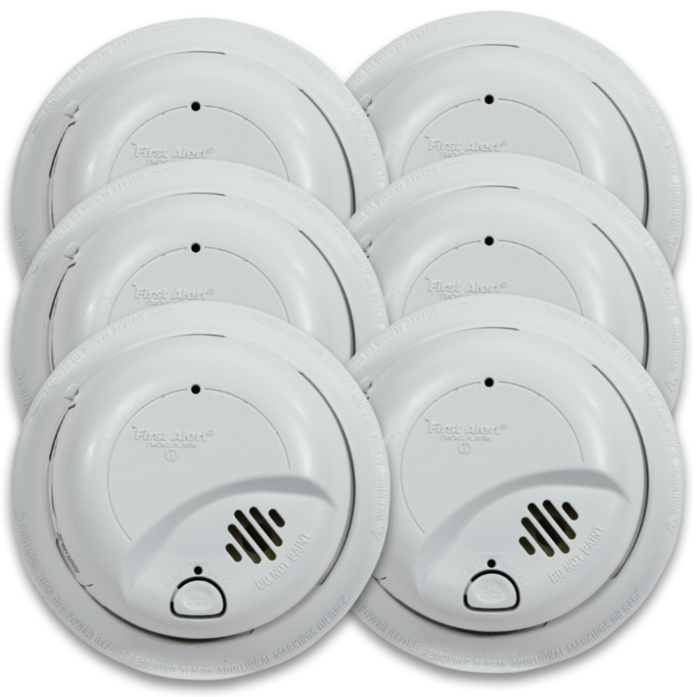 Hardwired Smoke Alarm with Battery Backup - Contractor Pack (48 pack ...