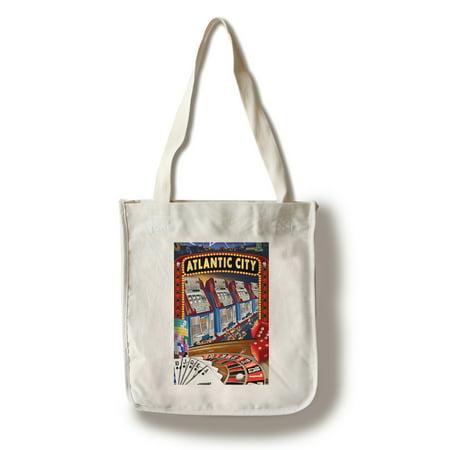 Casino Desert Scene (Atlantic City - Casino Scene - Lantern Press Poster (100% Cotton Tote Bag -)