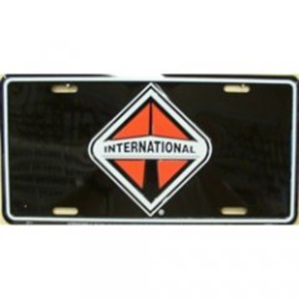 International On Black Metal License Plate - image 2 de 2