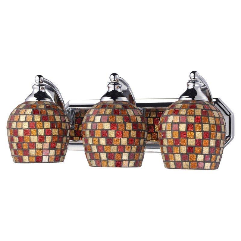 Elk Lighting 570-3C-MLT 3 Light Vanity in Polished Chrome & Multi Mosaic Glass