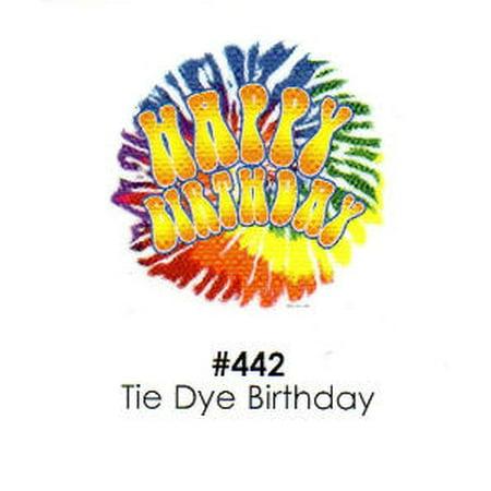 Tie Dye Birthday Cake Decoration Edible Frosting Photo Sheet](Tie Dye Cakes)