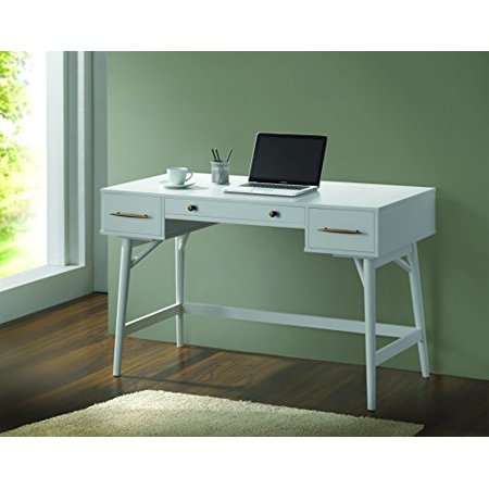Coaster Mid-century Modern Style Writing Desk in White