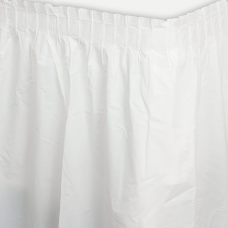 White Plastic Table Skirt - Party Supplies