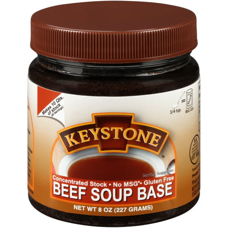 Keystone™ Concentrated Beef Soup Base Stock 8 oz. Jar