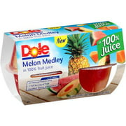 Dole Melon Medley Fruit Cups in 100% Fruit Juice, 4 oz, 4 ct