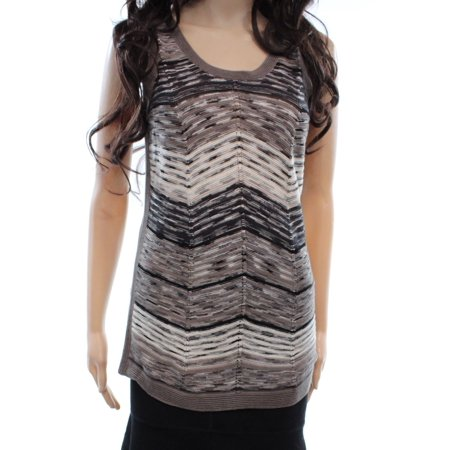 Nic + Zoe NEW Gray Chevron Striped Women's Size Small S Knit Tank Top