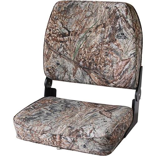 Wise Big Man Folding Boat Seat, Duck Blind Camo