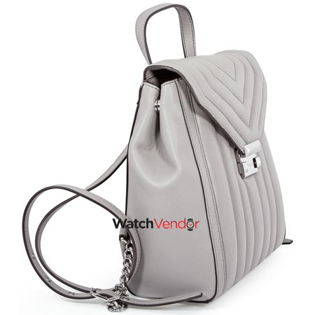 2a65e1db35d3 Michael Kors Whitney Quilted Leather Backpack- Pearl Grey - image 1 of 4 ...