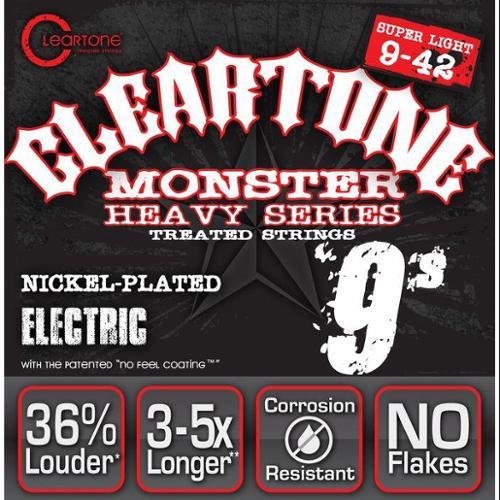 Cleartone Black Series Electric Guitar Strings, 9-42