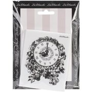 LaBlanche Silicone Stamp, 3 by 4-Inch, Floral Clock Multi-Colored