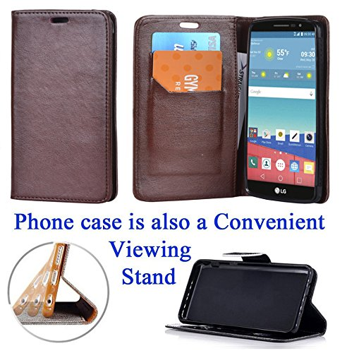 """for 5.7"""" LG STYLO G4 Stylus G Stylo Case Phone Case Designed Wallet Grip Grained Fold Kick stand Hybrid Pouch Card Pocket Purse Screen Flip Cover Happy Hearts"""