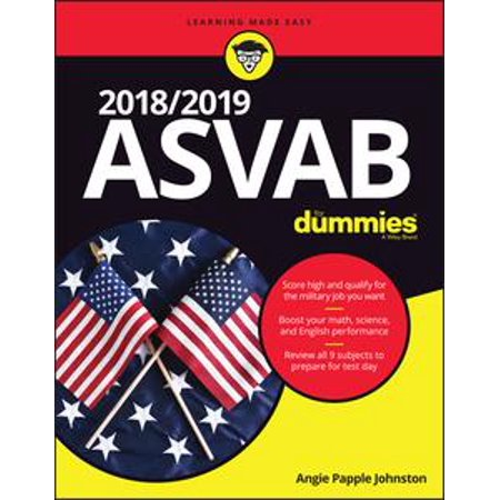 2018 / 2019 ASVAB For Dummies - eBook - Test Dummy Costume