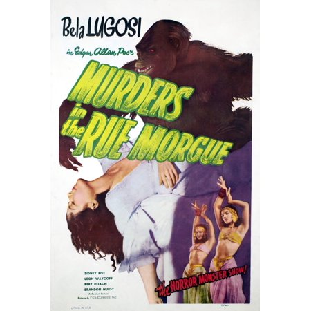 Murders In The Rue Morgue Arlene Francis Charles Gemora 1932 Movie Poster Masterprint - Morgue Sign