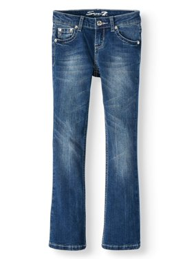 Seven7 Starstruck Rhinestone Pocket Bootcut Jean (Big Girls)