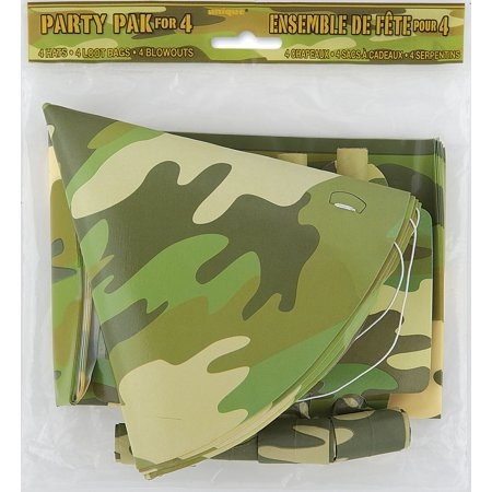 Unique Boys Camo Army Party Favors for 4 12pc Party Pack, Camouflage](Army Party)