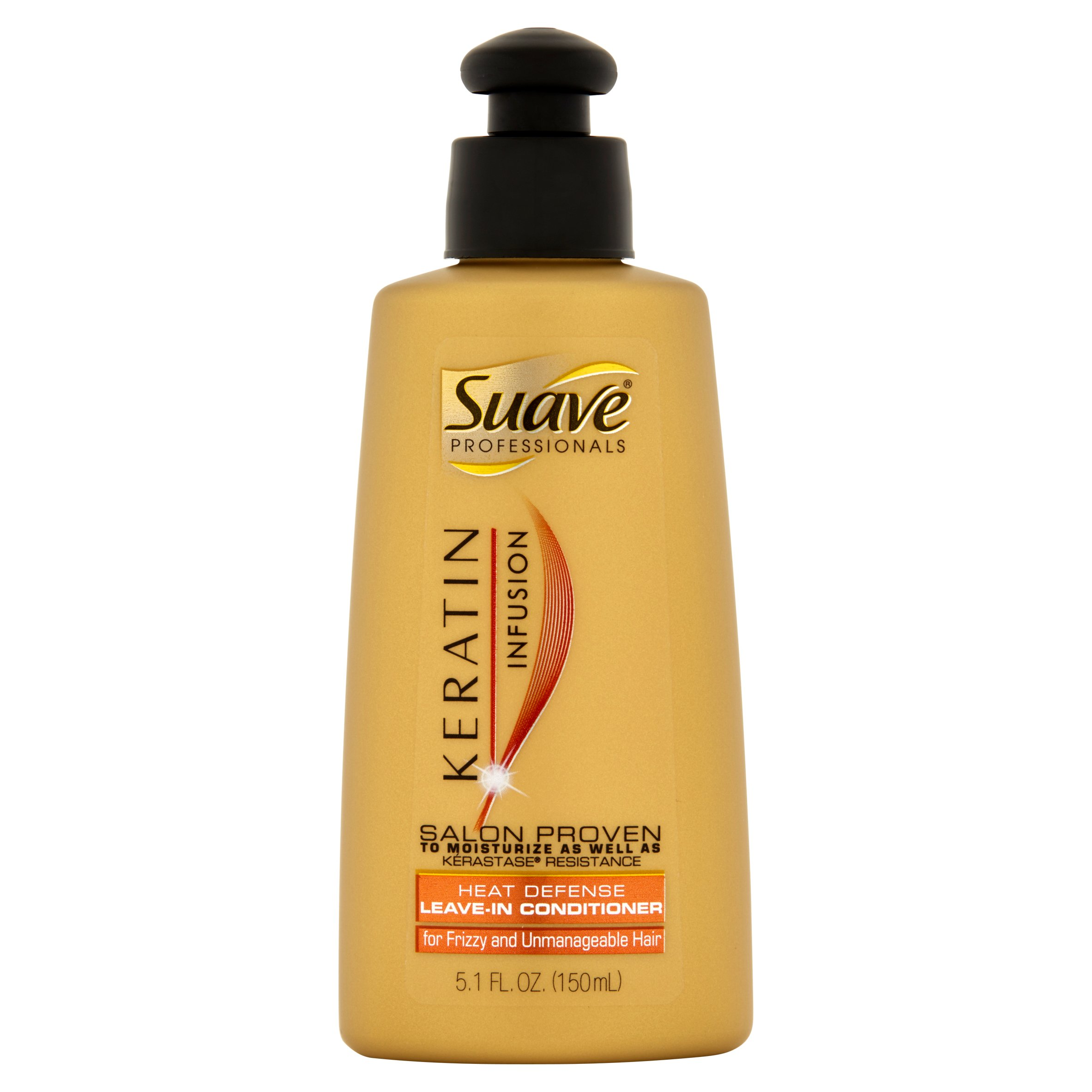Suave Professionals Keratin Infusion Heat Defense Conditioner, 5.1 oz