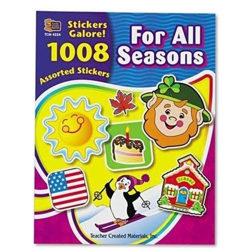 Teacher Created Resources For All Seasons Sticker Book - Assorted (4224_40)