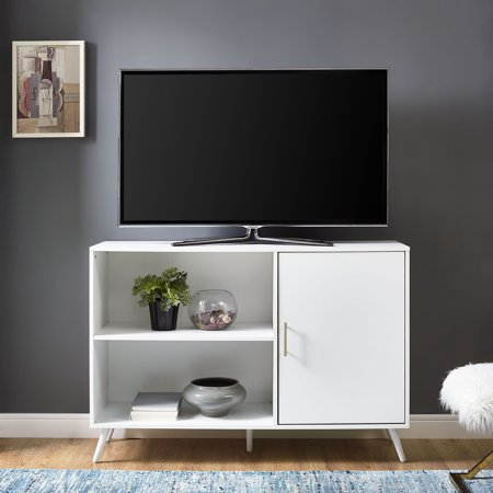 Manor Park 48 Mid Century Modern Simple Media Tv Stand Storage Console With Cabinet