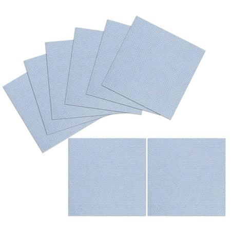 Triluc Place and Stick Tile Mats, Light Blue, 12x12 (8 Pieces)